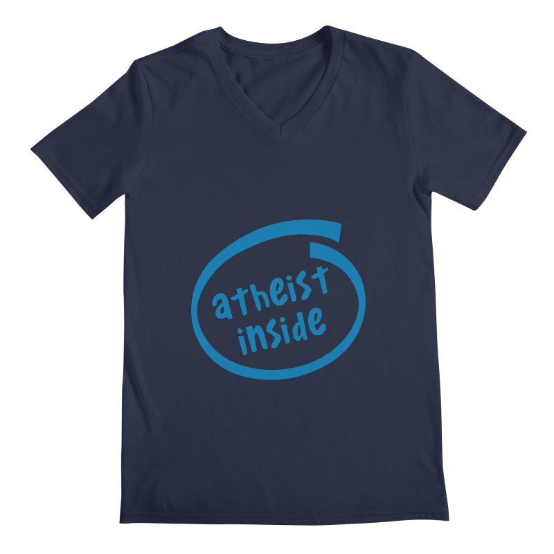 Atheist inside Men's Regular V-Neck by Rational Tees
