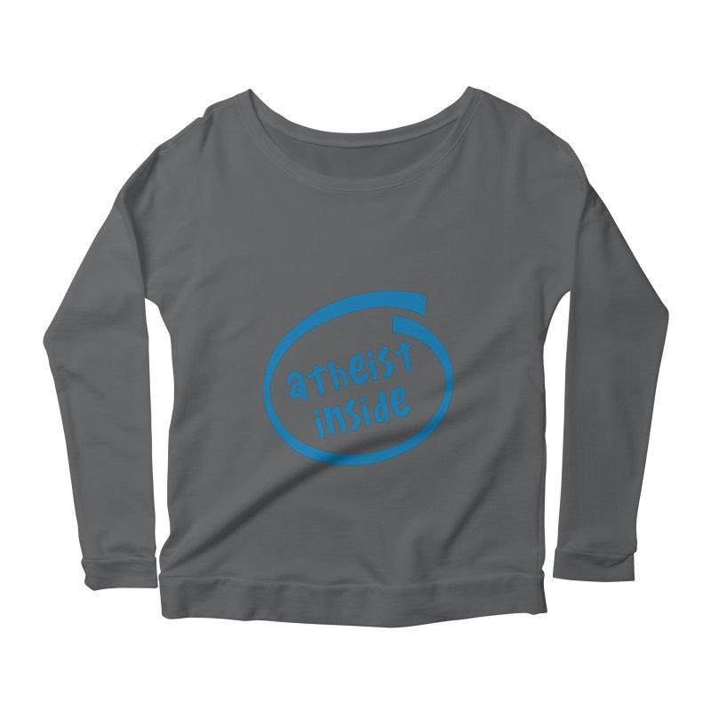 Atheist inside Women's Scoop Neck Longsleeve T-Shirt by Rational Tees