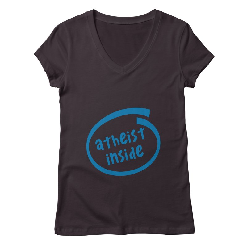 Atheist inside Women's Regular V-Neck by Rational Tees