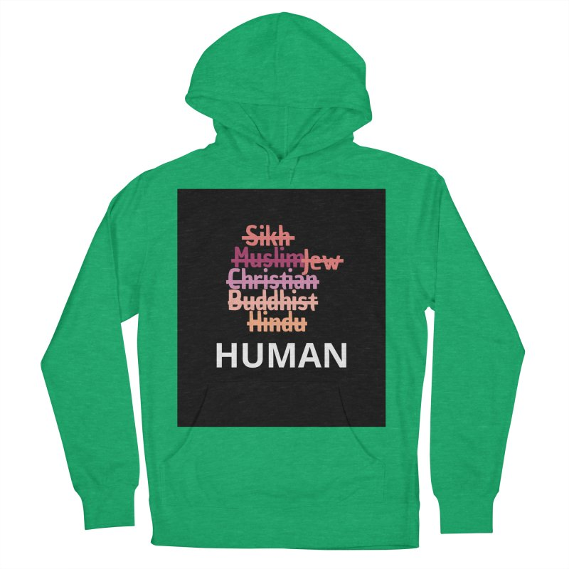 HUMAN Women's French Terry Pullover Hoody by Rational Tees