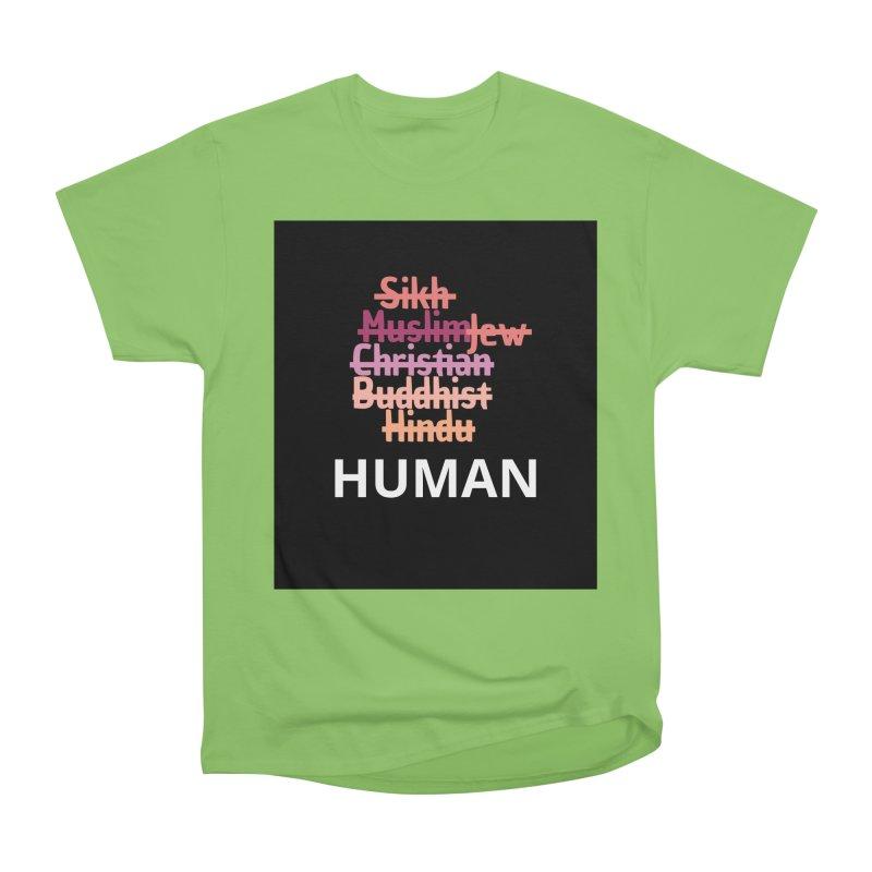 HUMAN Women's Heavyweight Unisex T-Shirt by Rational Tees