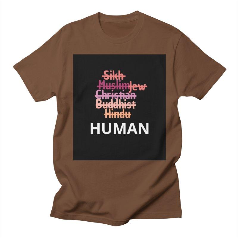 HUMAN Women's Regular Unisex T-Shirt by Rational Tees
