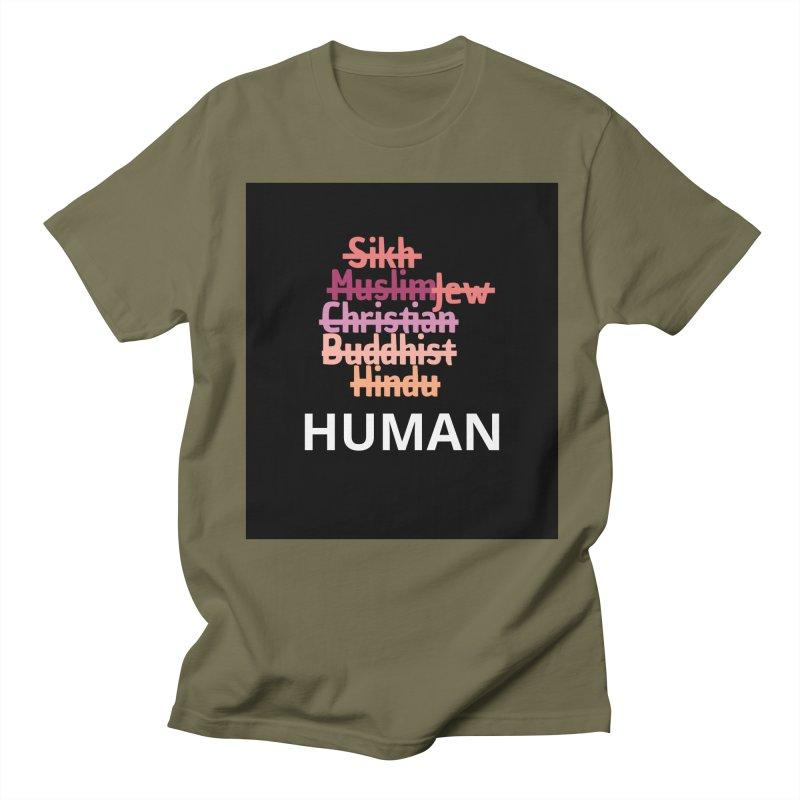 HUMAN Men's Regular T-Shirt by Rational Tees