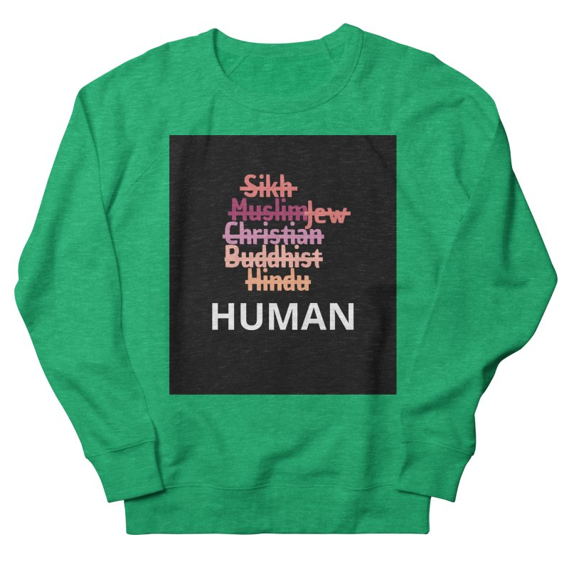 HUMAN Men's French Terry Sweatshirt by Rational Tees