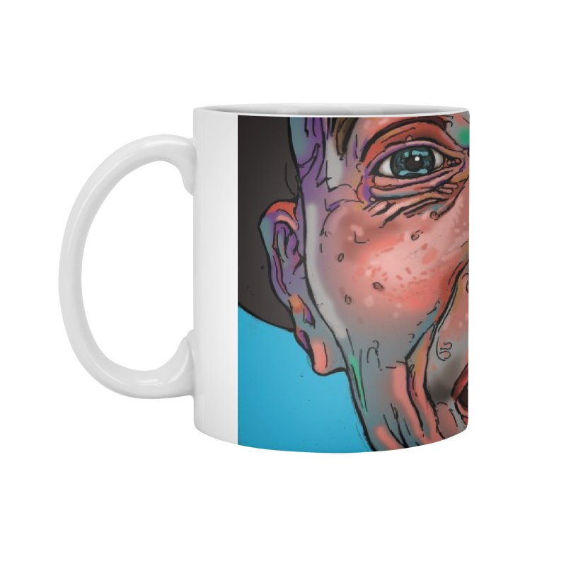 Schizo Pop Face Accessories Mug by schizo pop