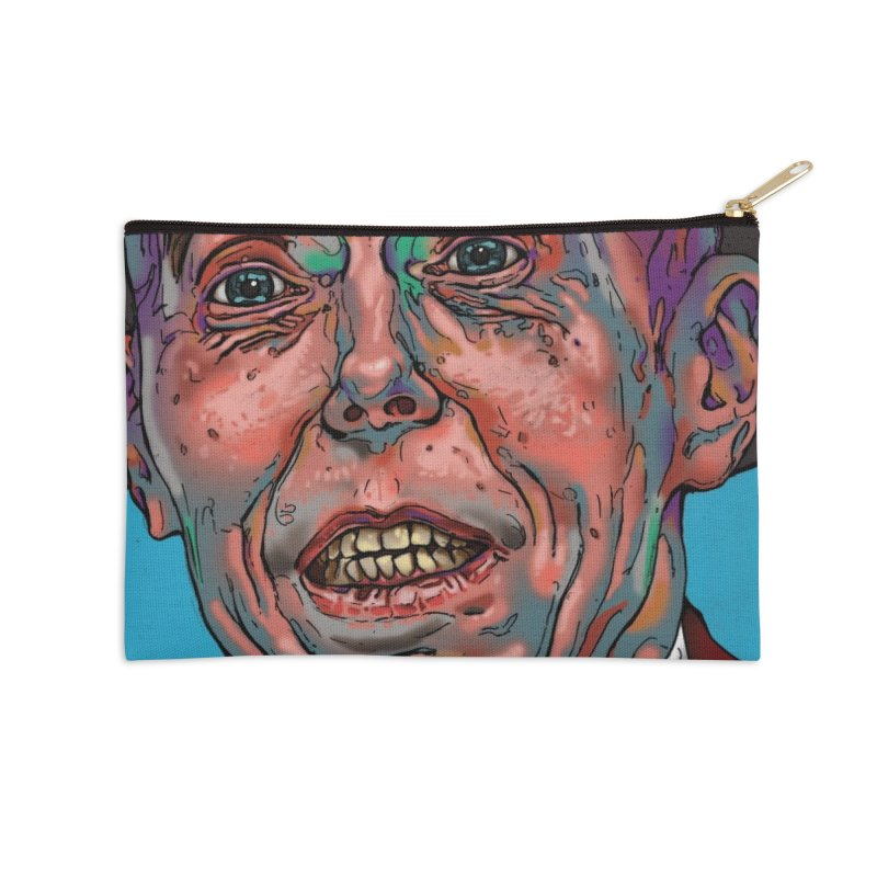 Schizo Pop Face Accessories Zip Pouch by schizo pop