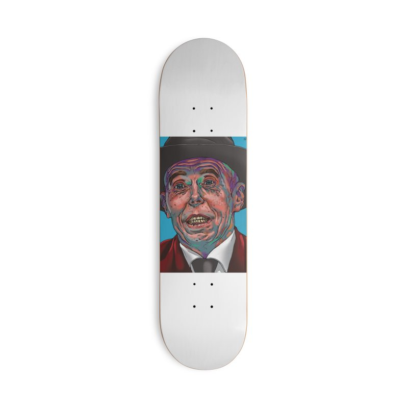 Schizo Pop Face Accessories Skateboard by schizo pop