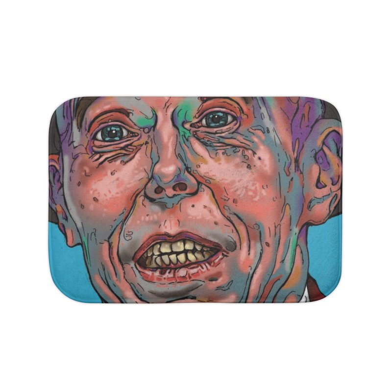 Schizo Pop Face Home Bath Mat by schizo pop