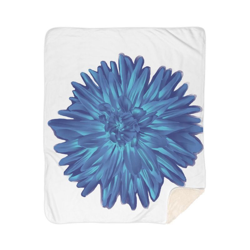 Schizo Pop Flower 1 Home Sherpa Blanket Blanket by schizo pop