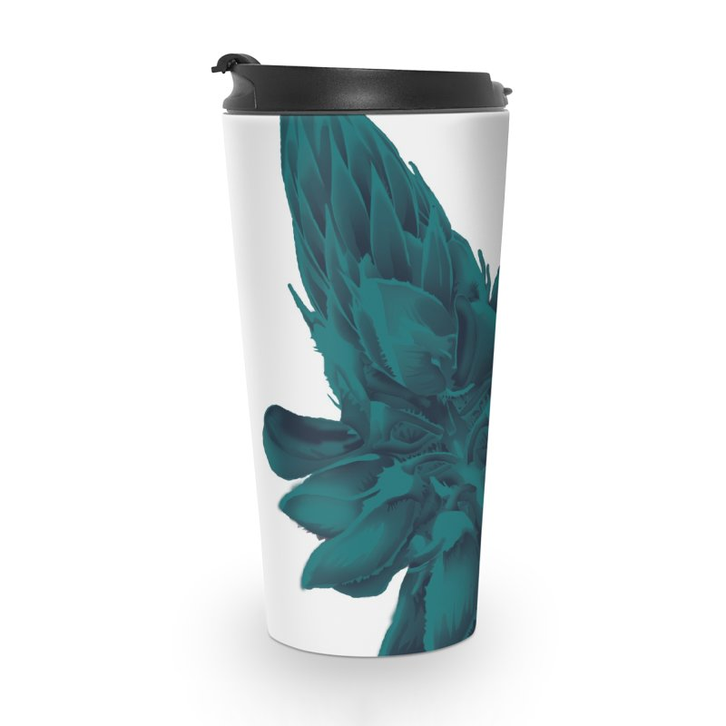 Schizo Pop Flower 2 Accessories Travel Mug by schizo pop