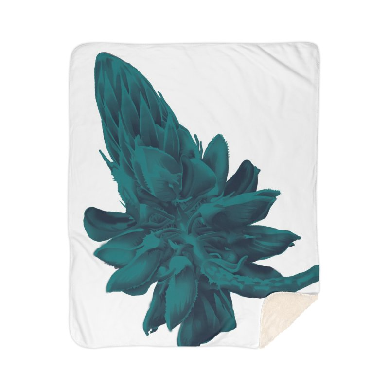 Schizo Pop Flower 2 Home Sherpa Blanket Blanket by schizo pop