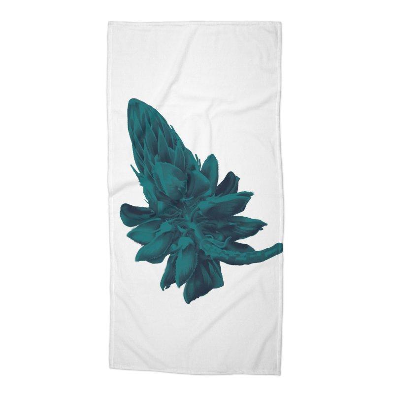 Schizo Pop Flower 2 Accessories Beach Towel by schizo pop