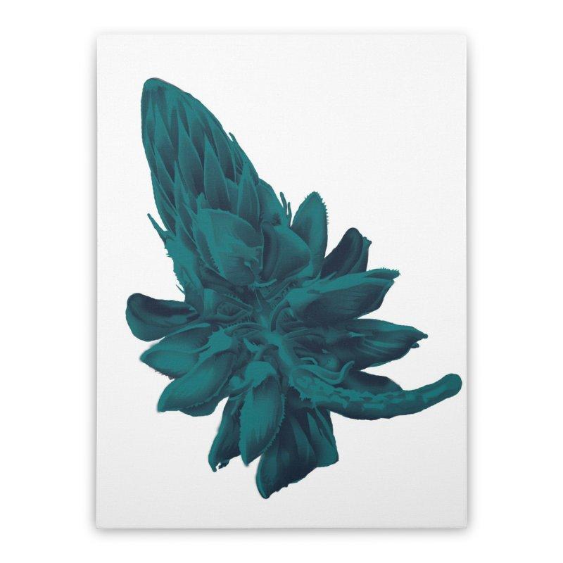 Schizo Pop Flower 2 Home Stretched Canvas by schizo pop