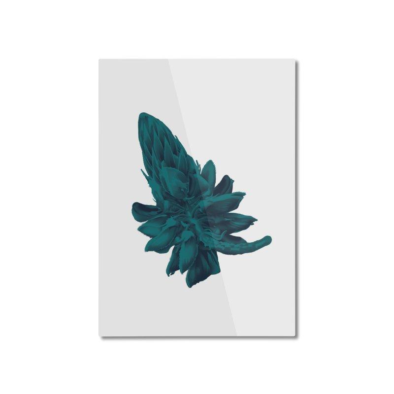 Schizo Pop Flower 2 Home Mounted Aluminum Print by schizo pop
