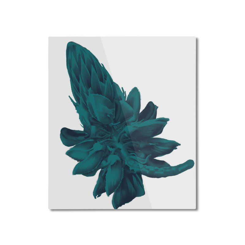 Schizo Pop Flower 2 Home Mounted Aluminum Print by schizo pop