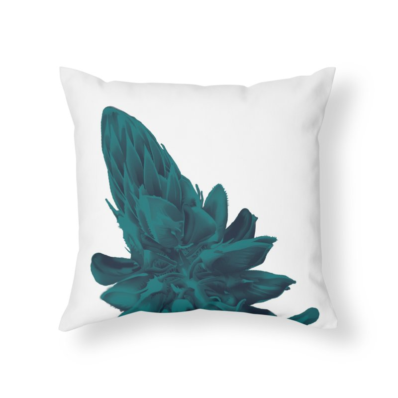 Schizo Pop Flower 2 Home Throw Pillow by schizo pop