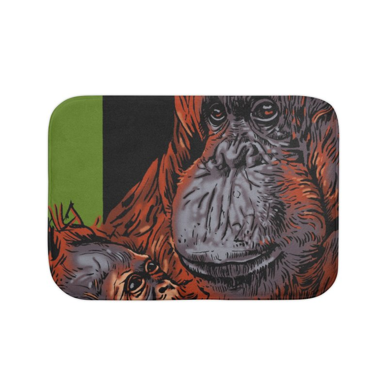 Schizo Pop Orangutan Home Bath Mat by schizo pop