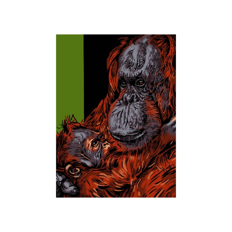 Schizo Pop Orangutan Home Blanket by schizo pop