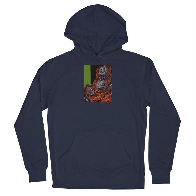 Schizo Pop Orangutan Men's Pullover Hoody by schizo pop