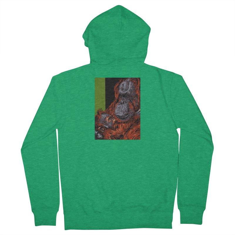 Schizo Pop Orangutan Men's Zip-Up Hoody by schizo pop