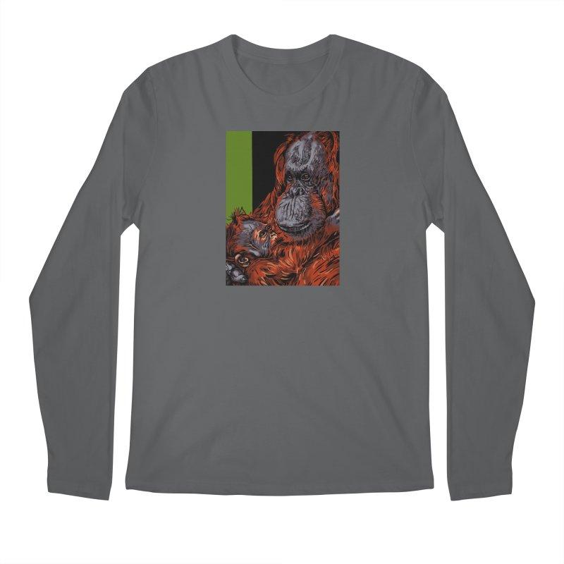 Schizo Pop Orangutan Men's Longsleeve T-Shirt by schizo pop