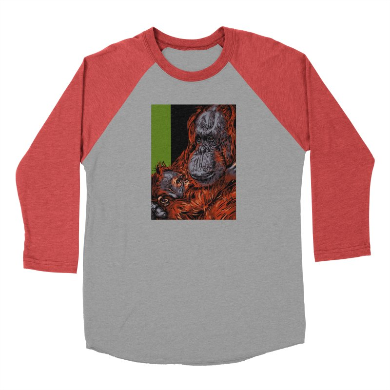 Schizo Pop Orangutan Women's Baseball Triblend Longsleeve T-Shirt by schizo pop