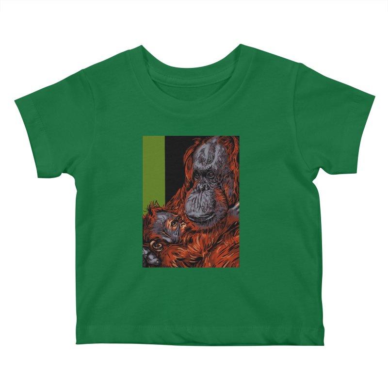 Schizo Pop Orangutan Kids Baby T-Shirt by schizo pop