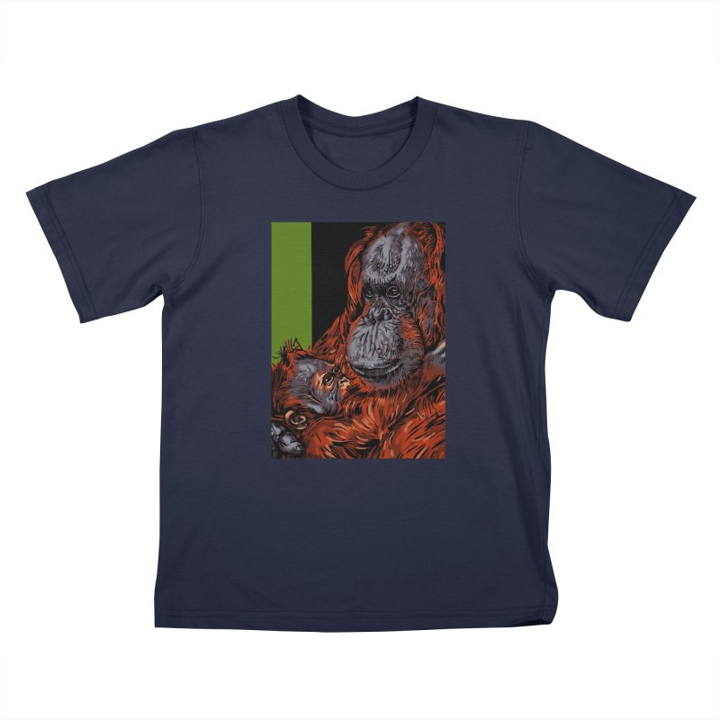 Schizo Pop Orangutan Kids T-Shirt by schizo pop