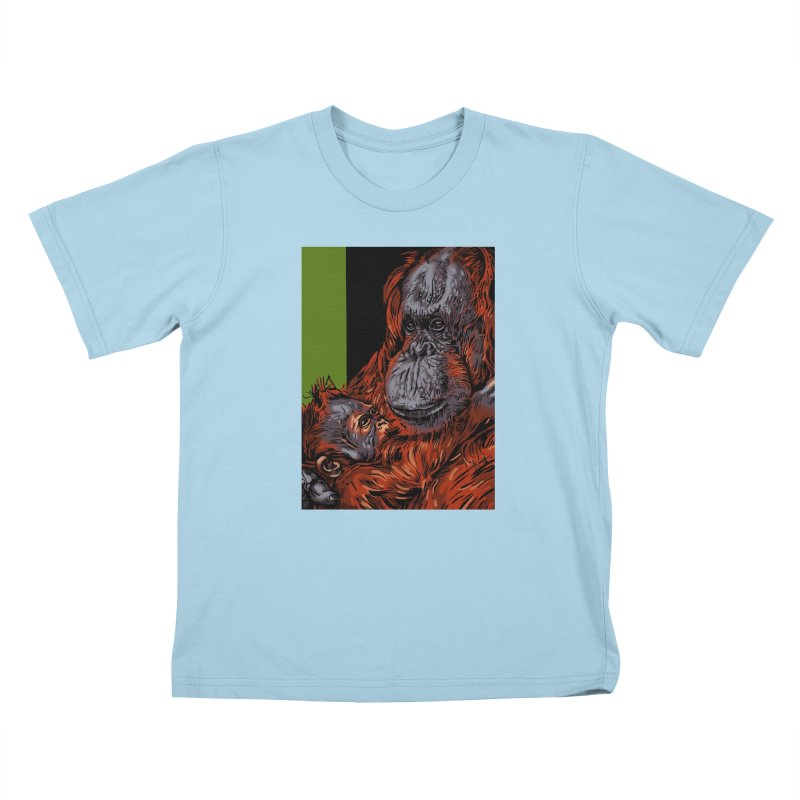 Schizo Pop Orangutan Kids T-Shirt by schizo pop
