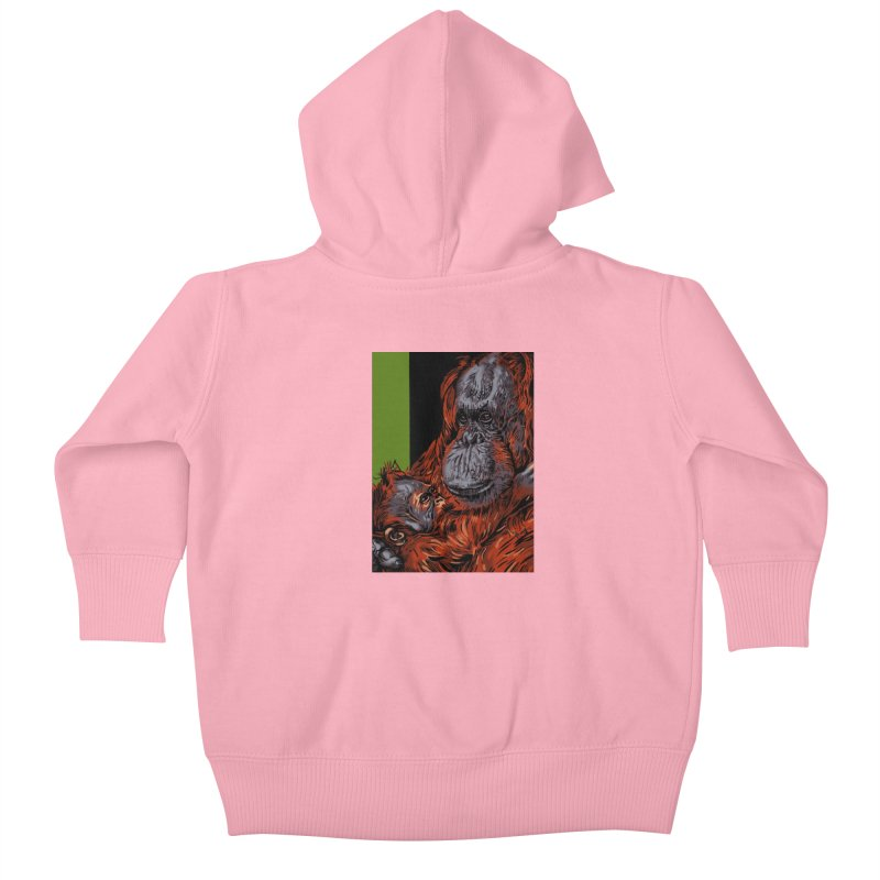 Schizo Pop Orangutan Kids Baby Zip-Up Hoody by schizo pop