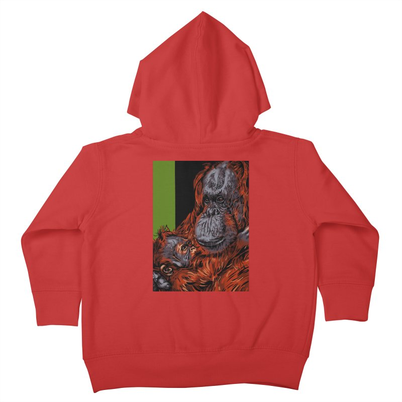 Schizo Pop Orangutan Kids Toddler Zip-Up Hoody by schizo pop