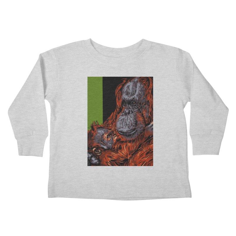 Schizo Pop Orangutan Kids Toddler Longsleeve T-Shirt by schizo pop