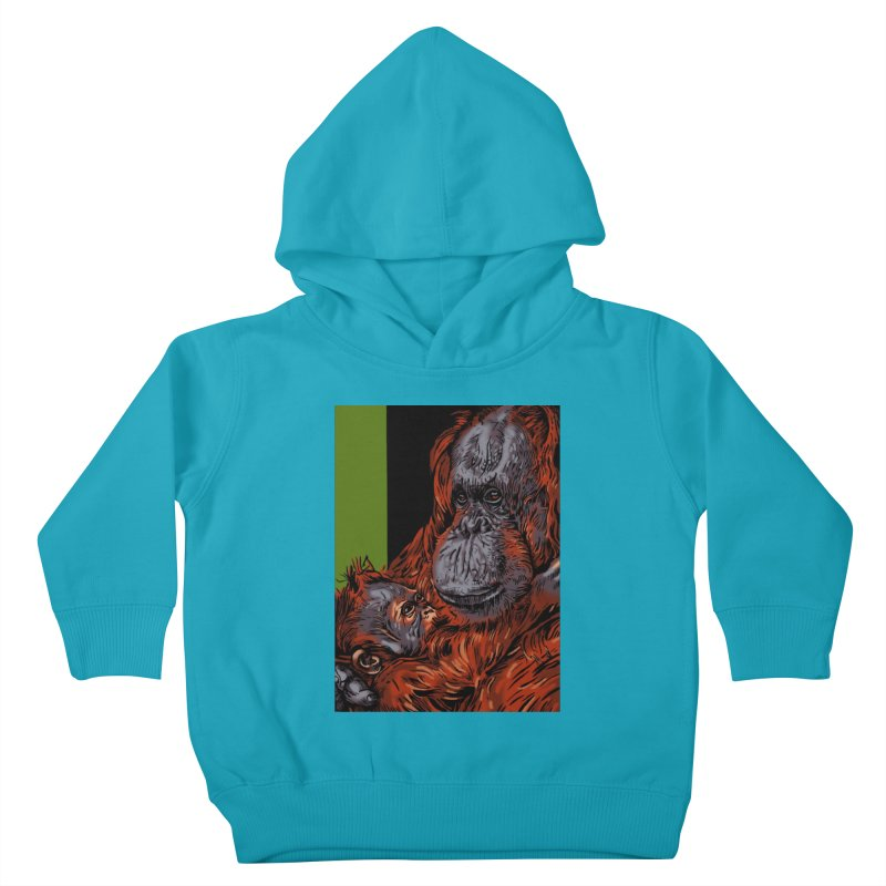 Schizo Pop Orangutan Kids Toddler Pullover Hoody by schizo pop