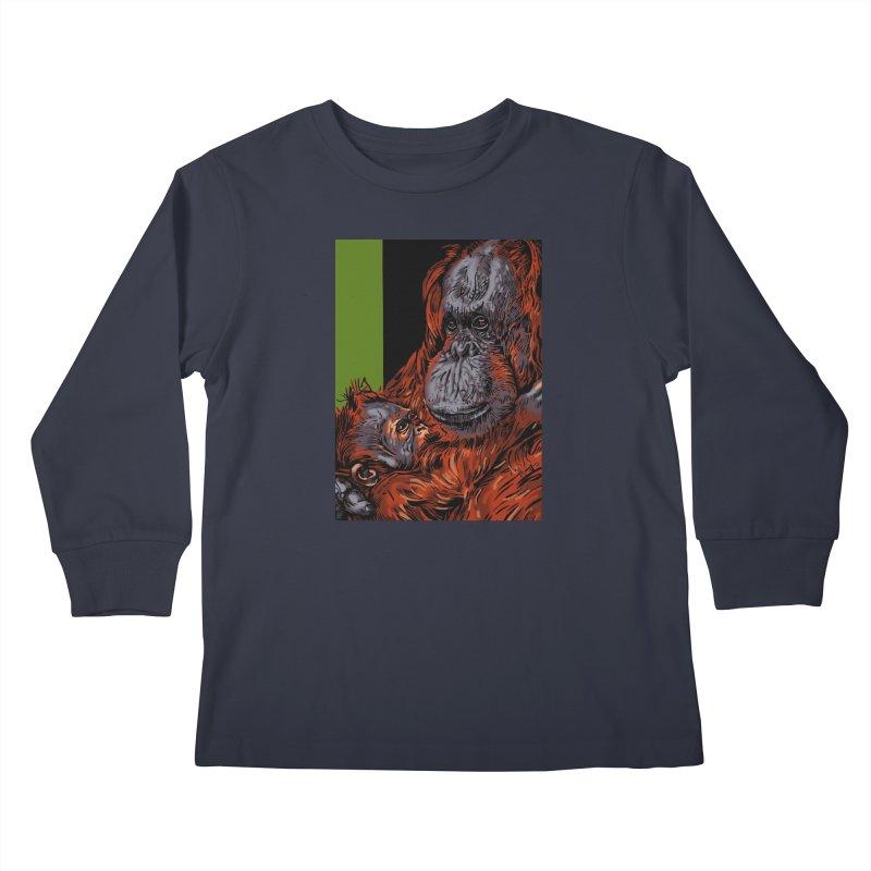 Schizo Pop Orangutan Kids Longsleeve T-Shirt by schizo pop