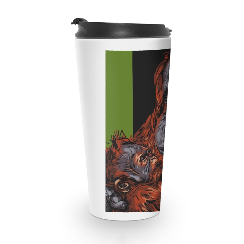 Schizo Pop Orangutan Accessories Travel Mug by schizo pop