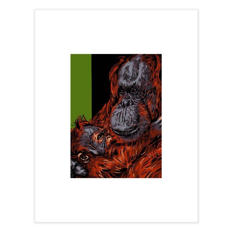 Schizo Pop Orangutan Home Fine Art Print by schizo pop