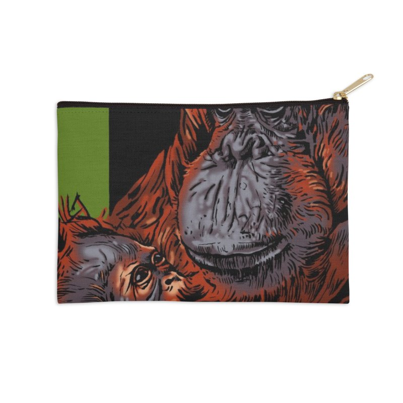 Schizo Pop Orangutan Accessories Zip Pouch by schizo pop