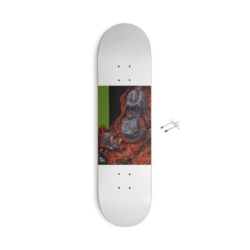 Schizo Pop Orangutan Accessories Skateboard by schizo pop