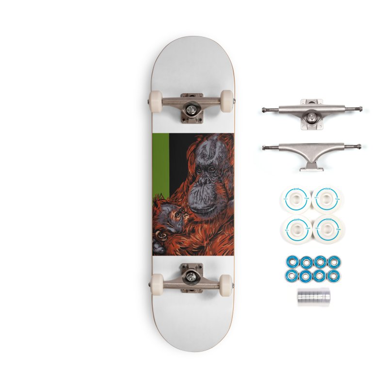 Schizo Pop Orangutan Accessories Skateboard by schizo pop