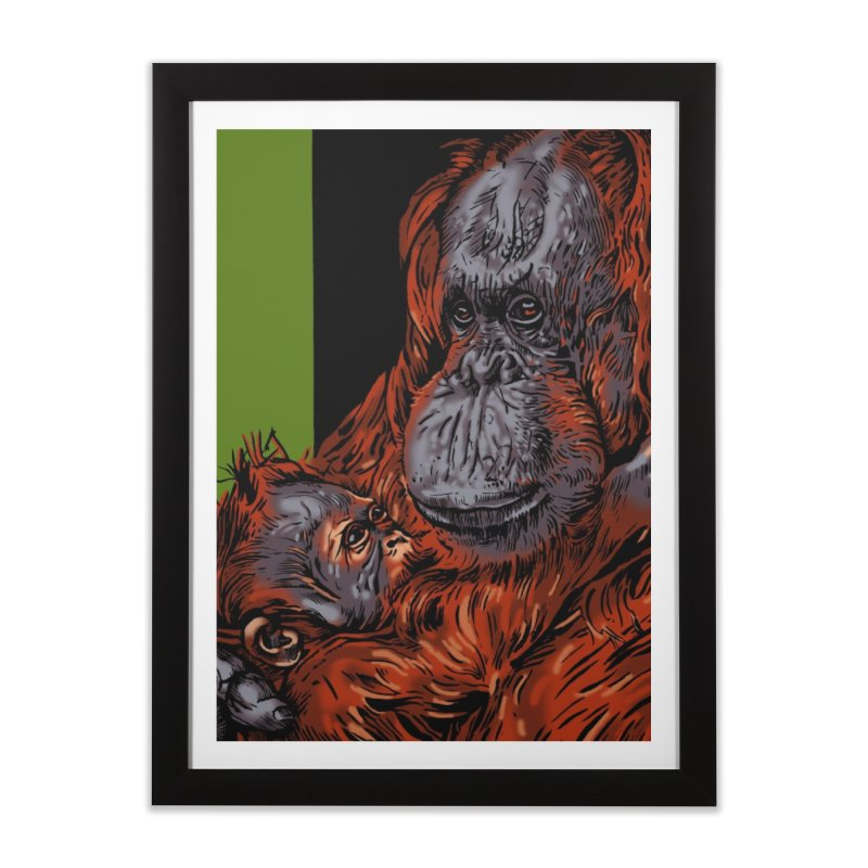 Schizo Pop Orangutan Home Framed Fine Art Print by schizo pop