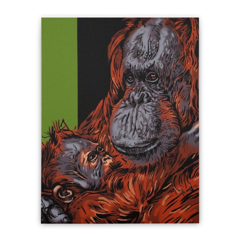 Schizo Pop Orangutan Home Stretched Canvas by schizo pop