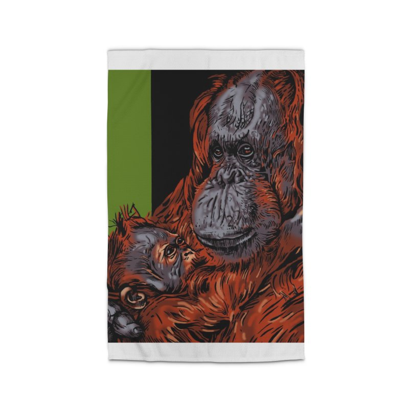Schizo Pop Orangutan Home Rug by schizo pop