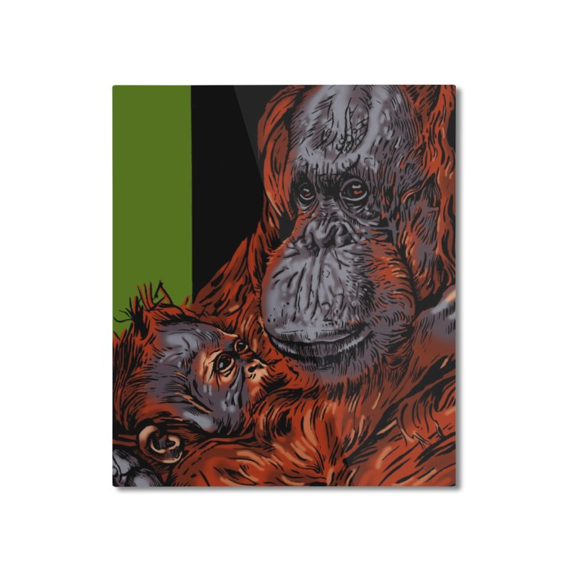 Schizo Pop Orangutan Home Mounted Aluminum Print by schizo pop