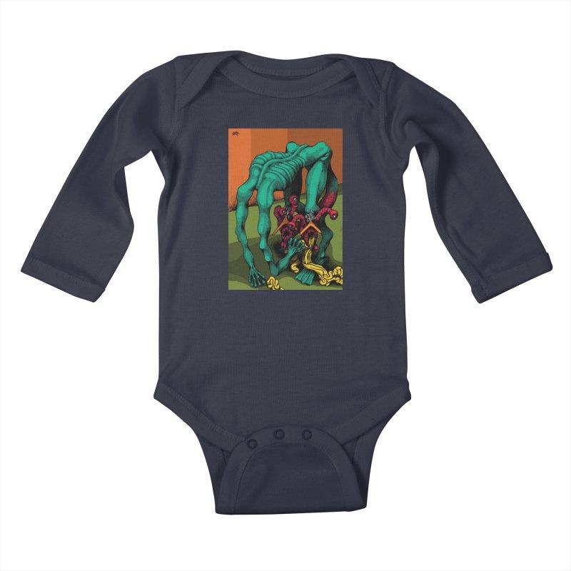 Schizo Pop Genetic Design 1 Kids Baby Longsleeve Bodysuit by schizo pop