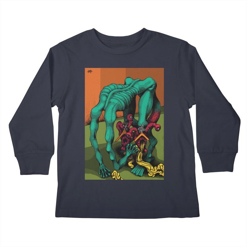 Schizo Pop Genetic Design 1 Kids Longsleeve T-Shirt by schizo pop