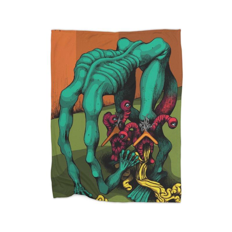 Schizo Pop Genetic Design 1 Home Fleece Blanket Blanket by schizo pop