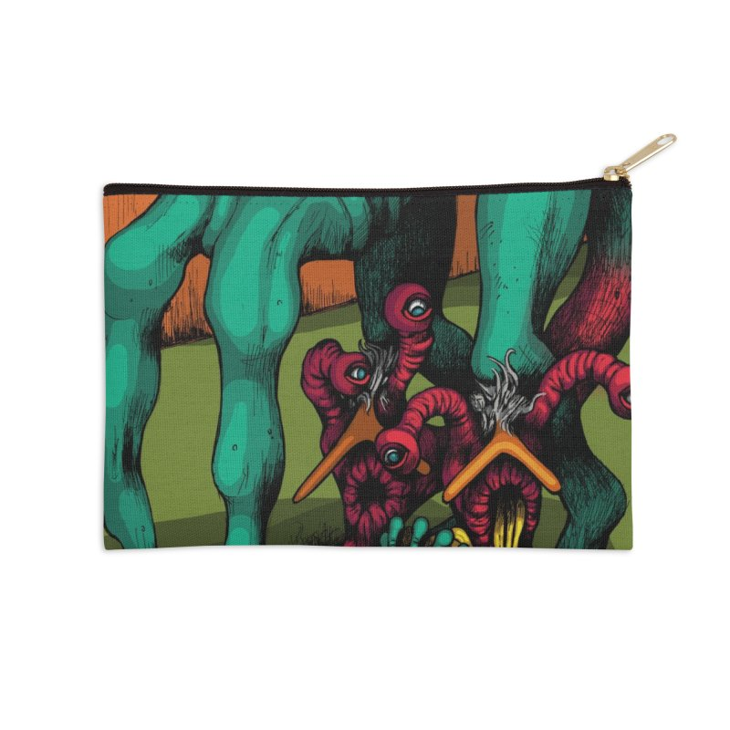 Schizo Pop Genetic Design 1 Accessories Zip Pouch by schizo pop