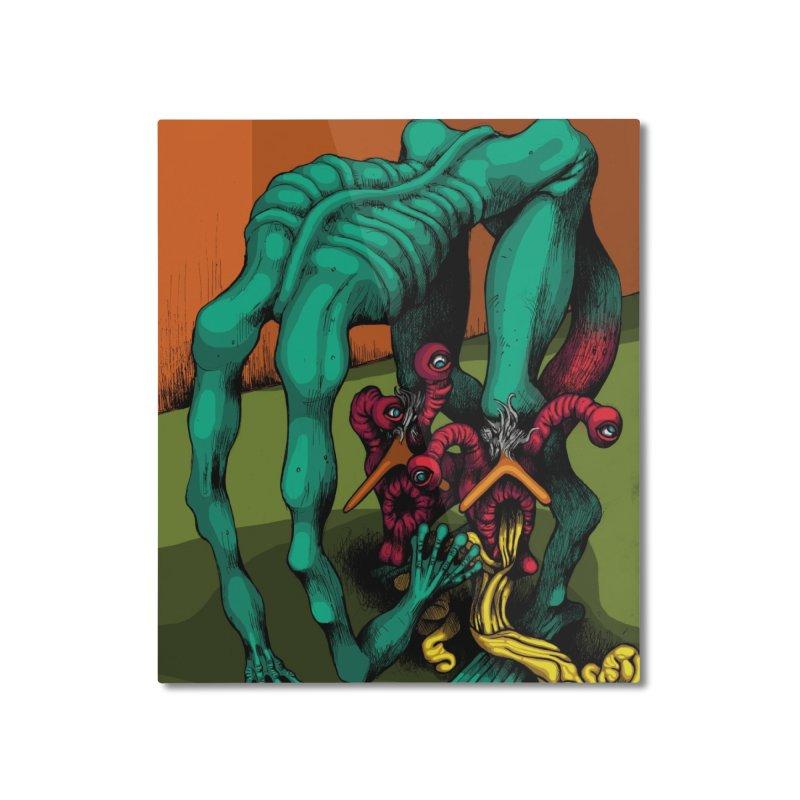 Schizo Pop Genetic Design 1 Home Mounted Aluminum Print by schizo pop