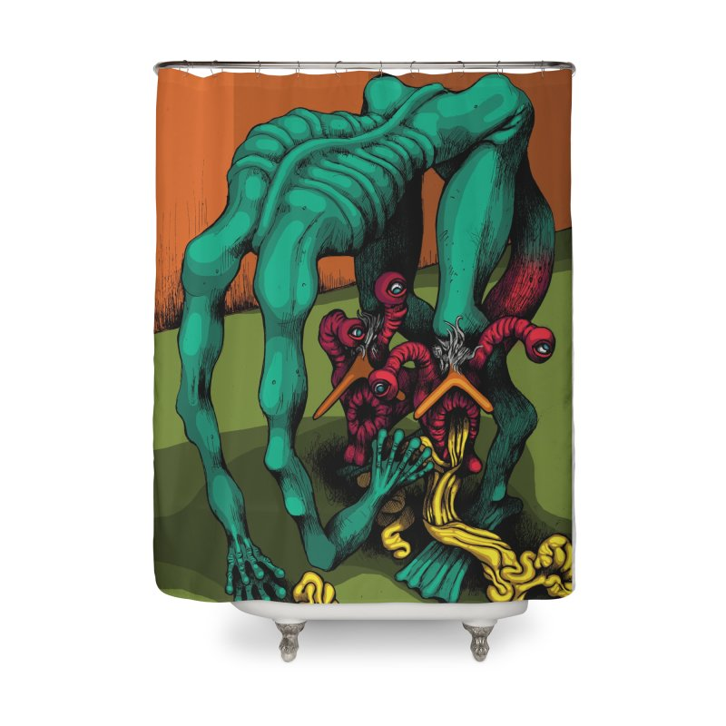 Schizo Pop Genetic Design 1 Home Shower Curtain by schizo pop