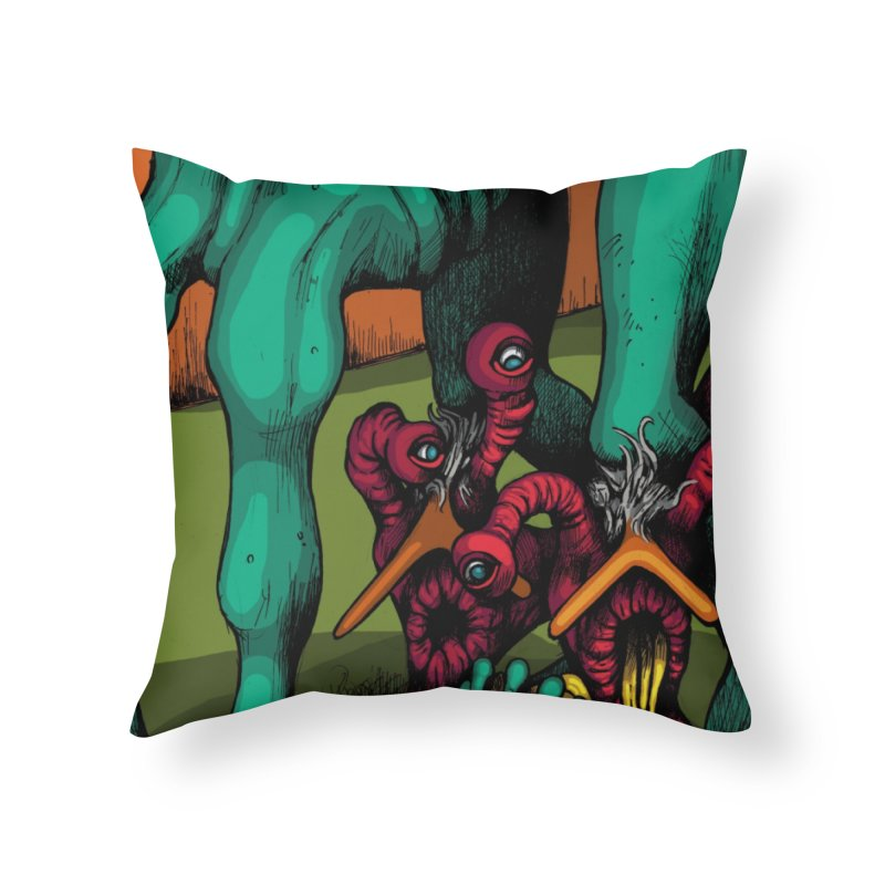 Schizo Pop Genetic Design 1 Home Throw Pillow by schizo pop
